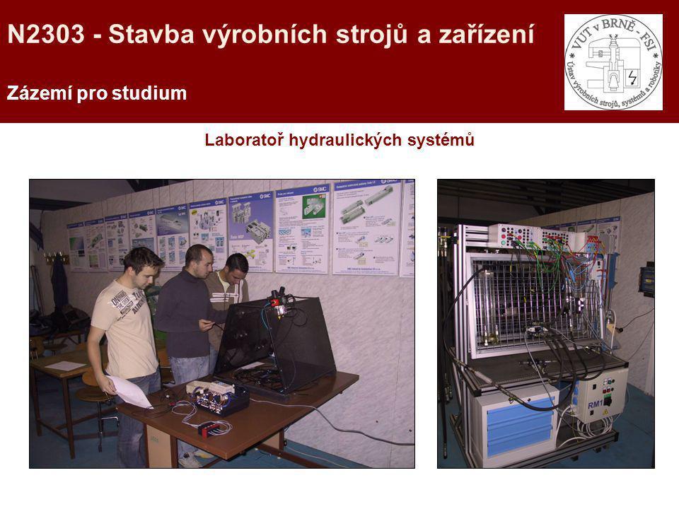 Laboratoř hydraulických systémů