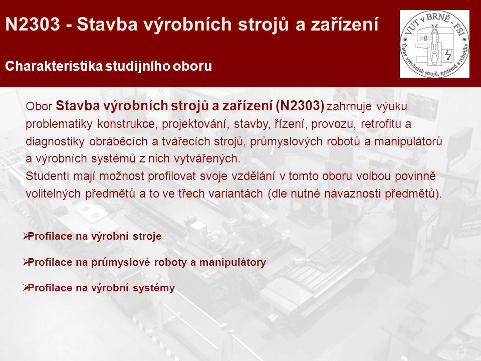 N2303 - Stavba výrobních strojů a zařízení