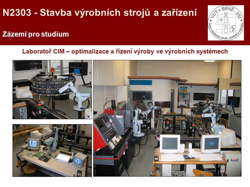 Laboratoř CIM – optimalizace a řízení výroby ve výrobních systémech