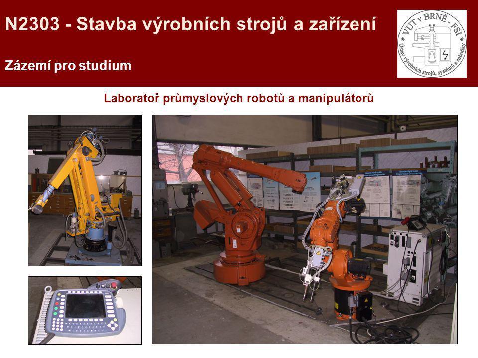 Laboratoř průmyslových robotů a manipulátorů