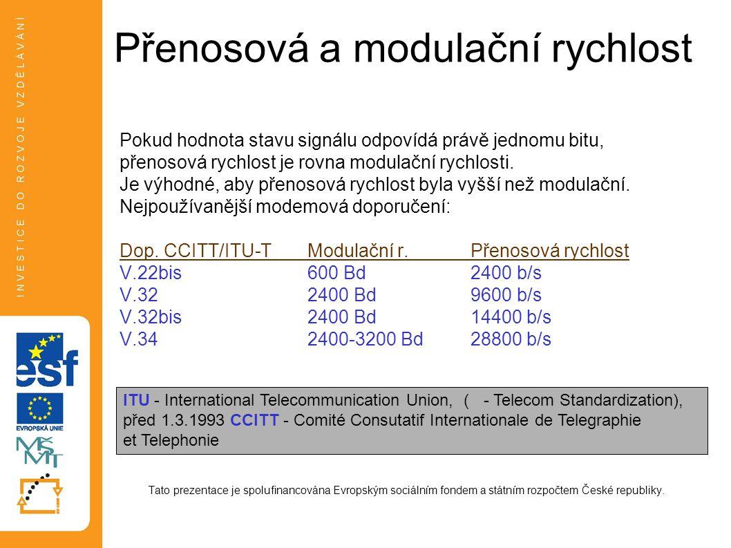 Přenosová a modulační rychlost