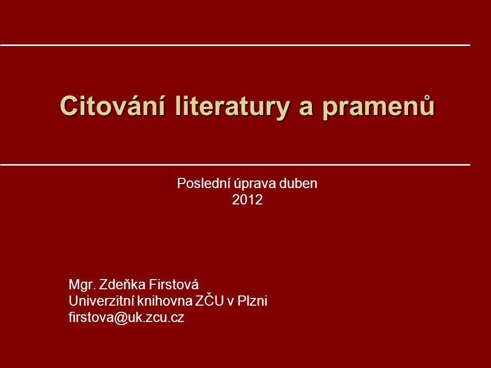 Citování literatury a pramenů