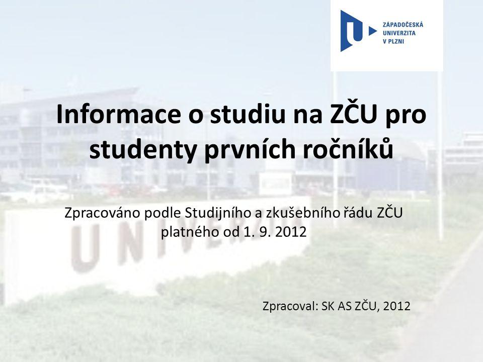 Informace o studiu na ZČU pro studenty prvních ročníků