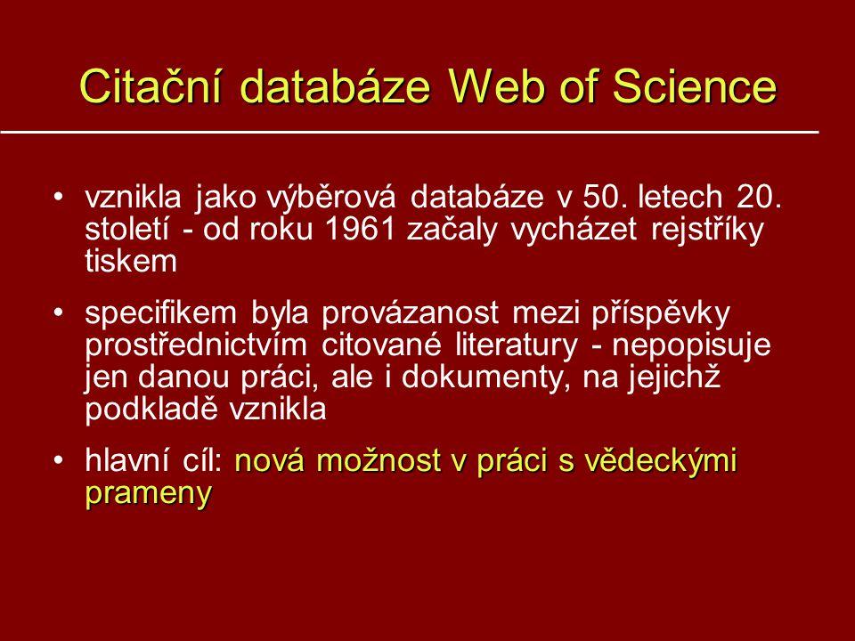 Citační databáze Web of Science