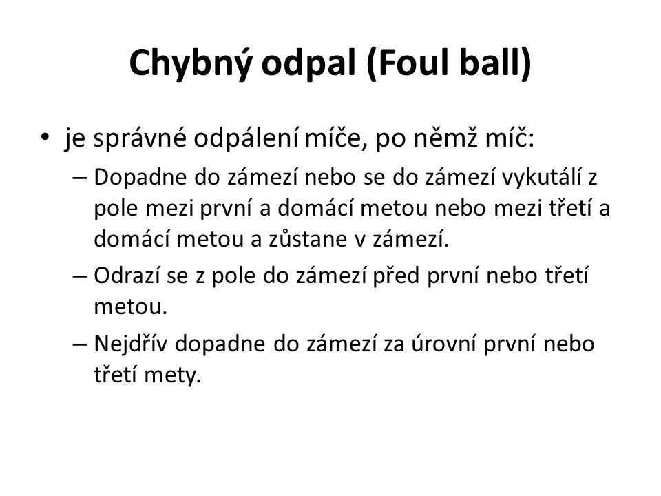 Chybný odpal (Foul ball)