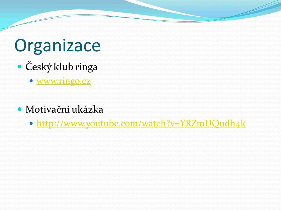 Organizace Český klub ringa Motivační ukázka www.ringo.cz