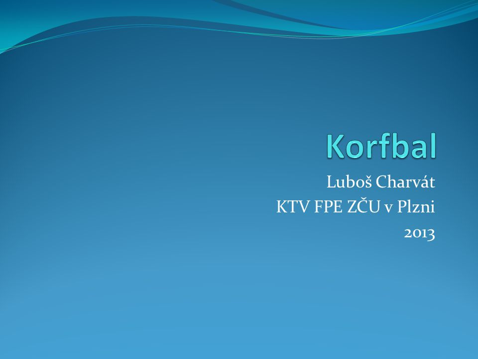 Luboš Charvát KTV FPE ZČU v Plzni 2013