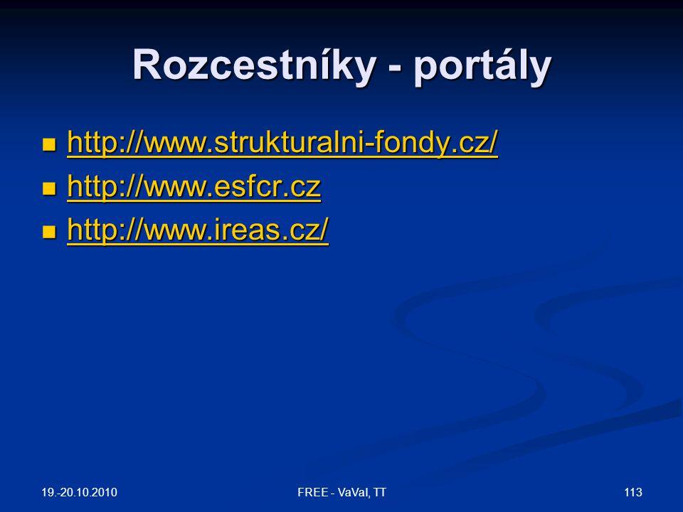 Rozcestníky - portály http://www.strukturalni-fondy.cz/