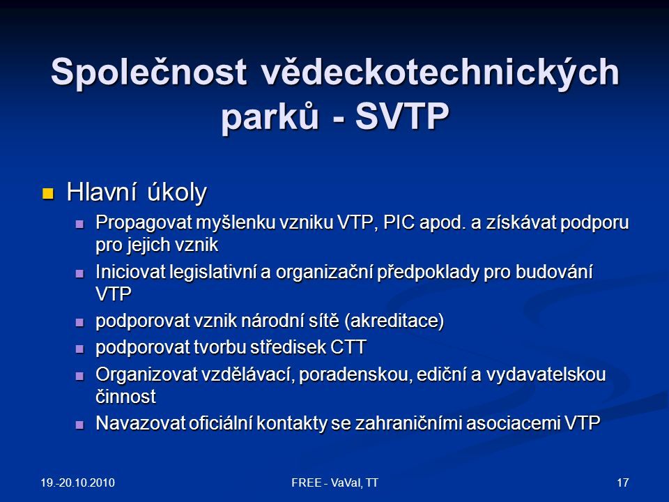 Společnost vědeckotechnických parků - SVTP