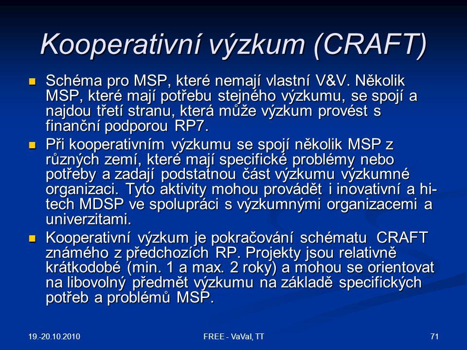 Kooperativní výzkum (CRAFT)
