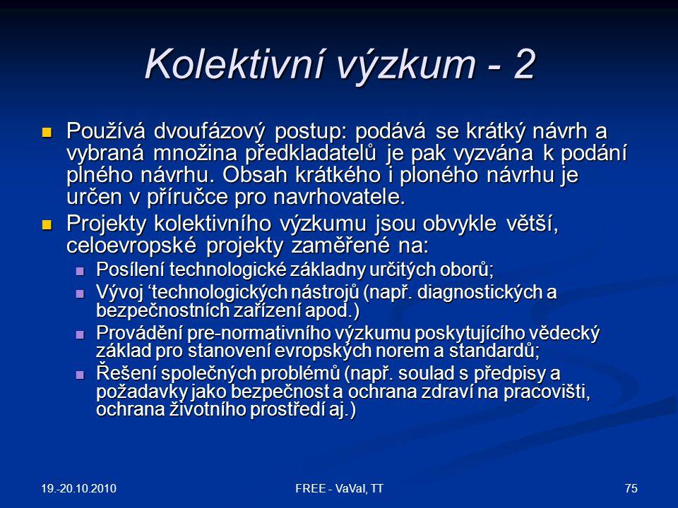 Kolektivní výzkum - 2