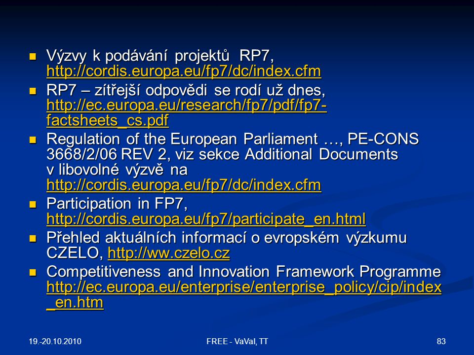 Participation in FP7,