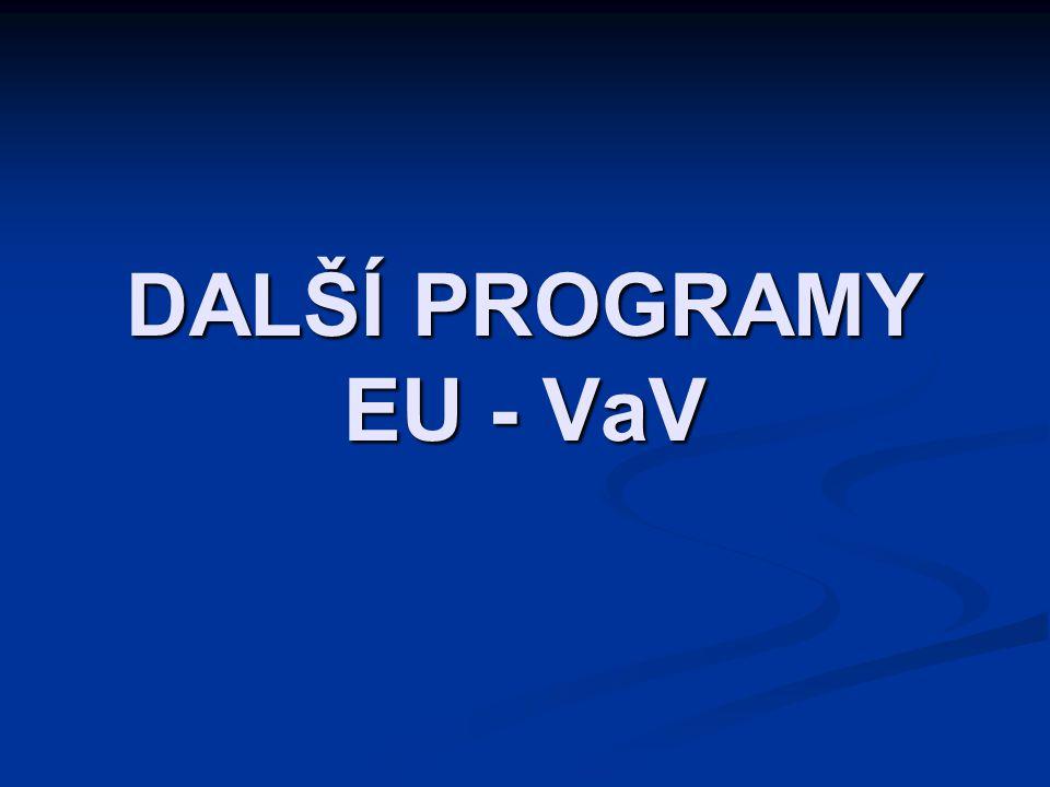 DALŠÍ PROGRAMY EU - VaV
