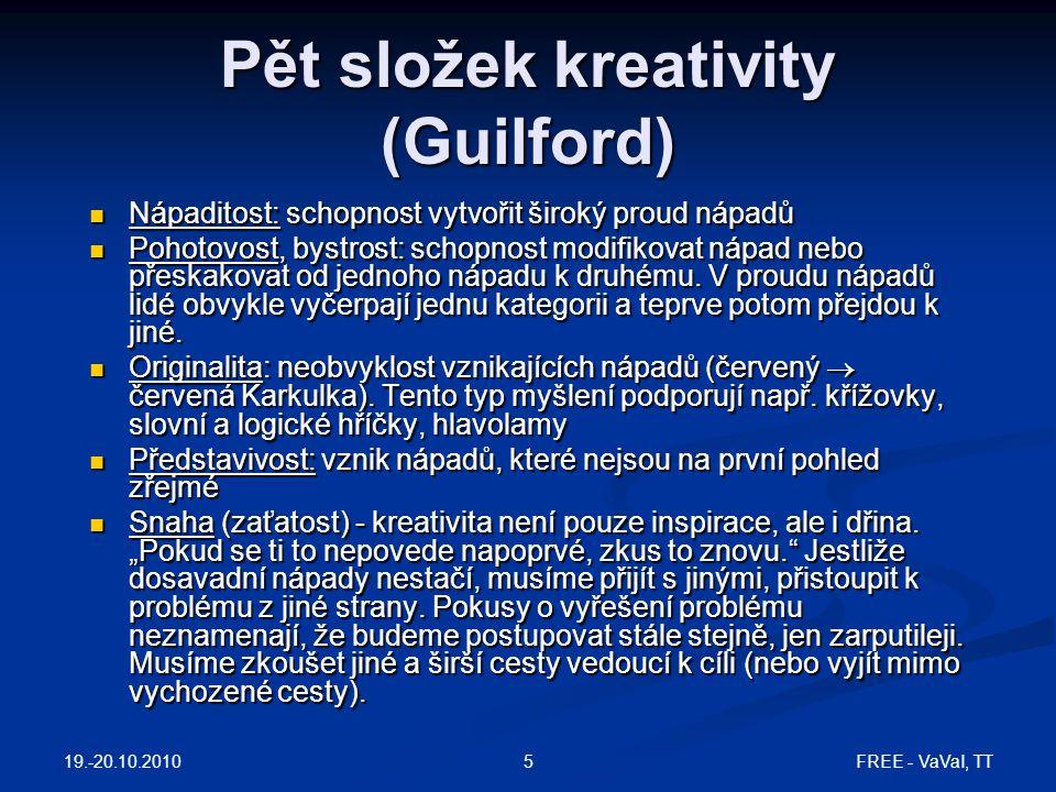 Pět složek kreativity (Guilford)