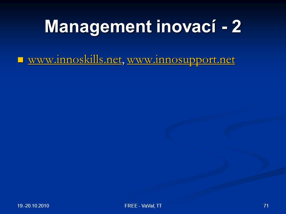 Management inovací - 2 www.innoskills.net, www.innosupport.net