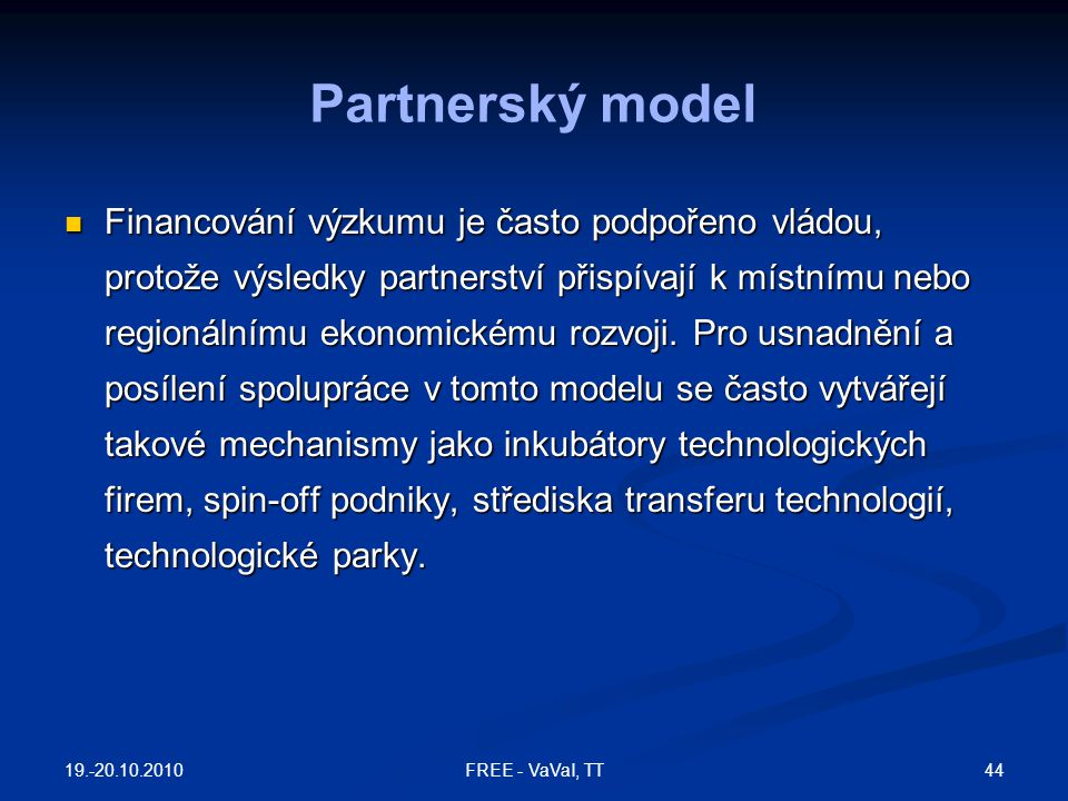 Partnerský model