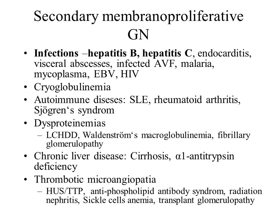 Secondary membranoproliferative GN