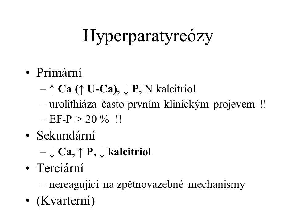 Hyperparatyreózy Primární Sekundární Terciární (Kvarterní)