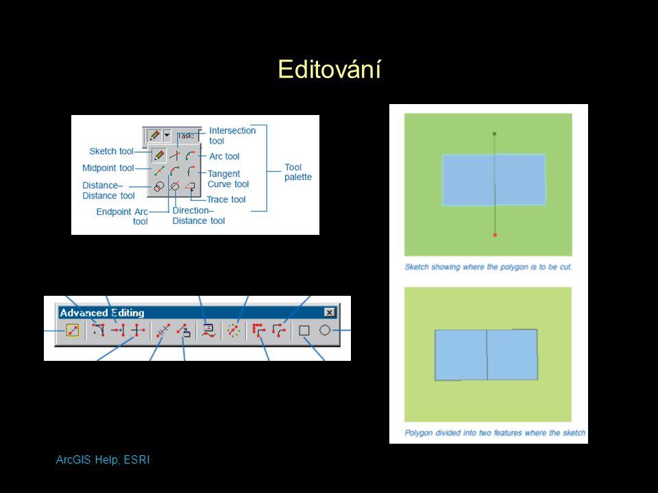 Editování ArcGIS Help; ESRI
