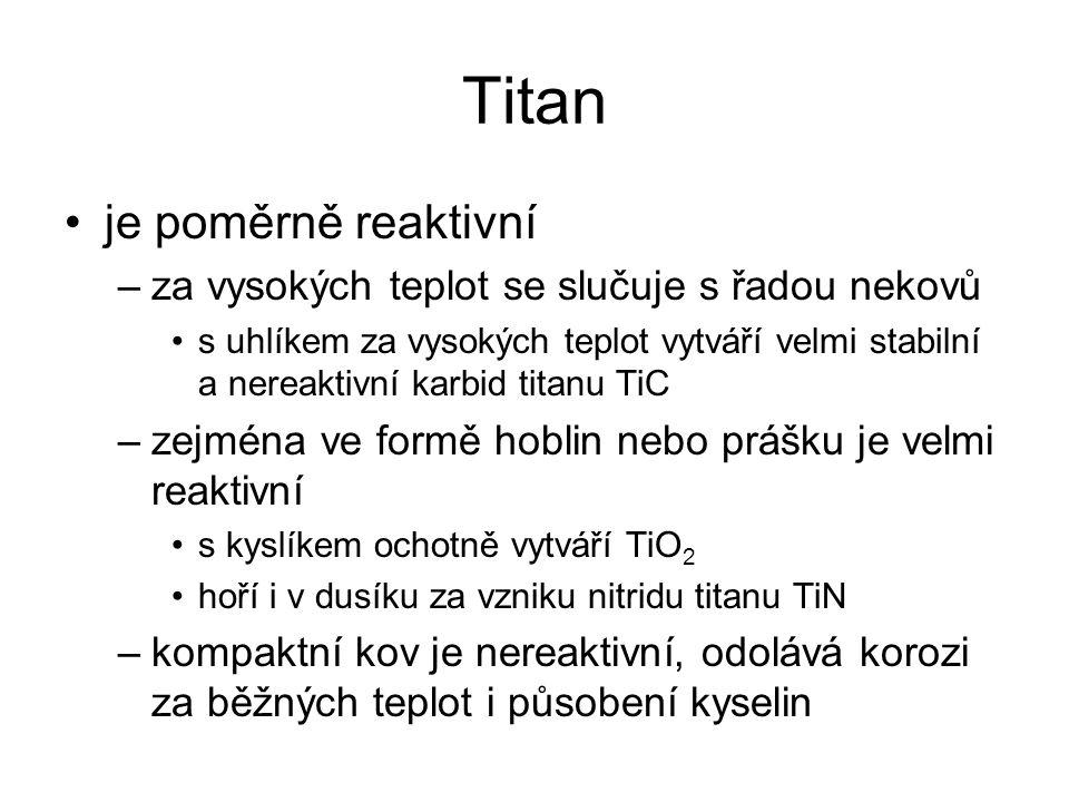 Titan je poměrně reaktivní