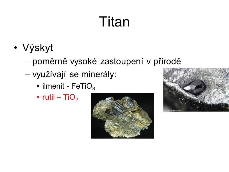 Titan Výskyt poměrně vysoké zastoupení v přírodě