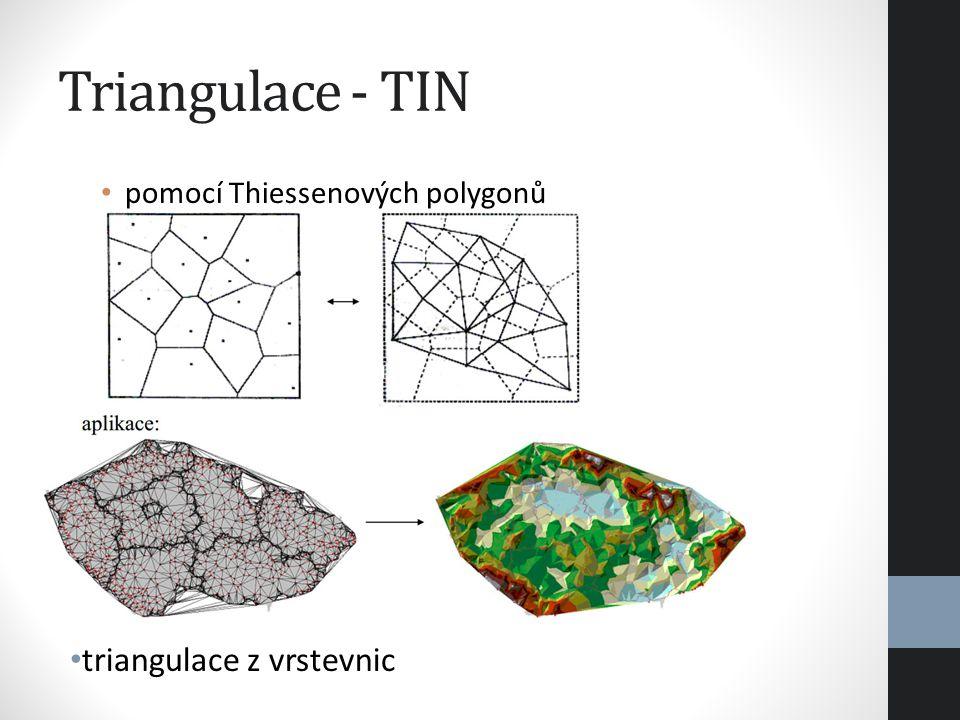 Triangulace - TIN triangulace z vrstevnic
