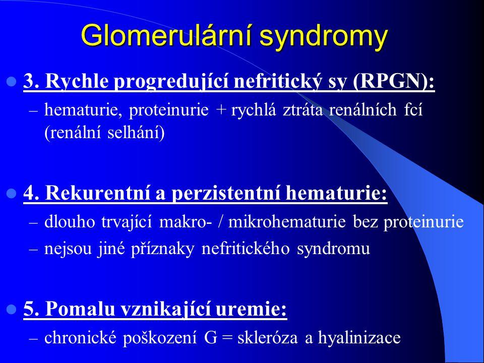 Glomerulární syndromy