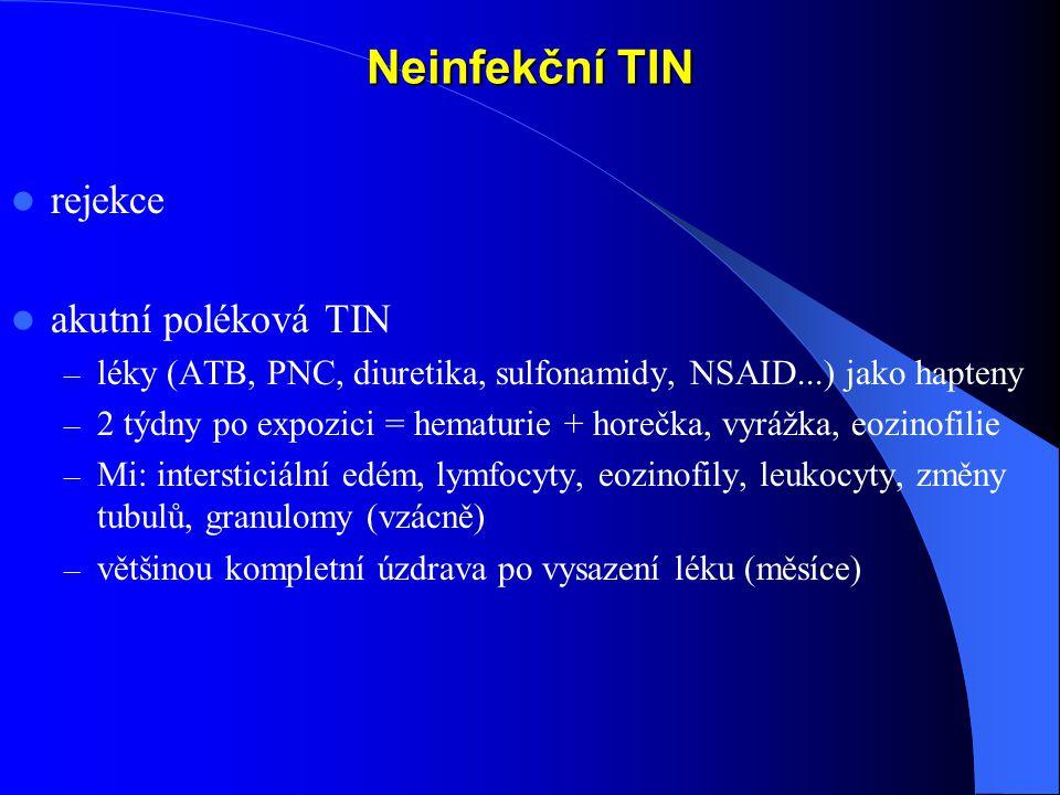 Neinfekční TIN rejekce akutní poléková TIN