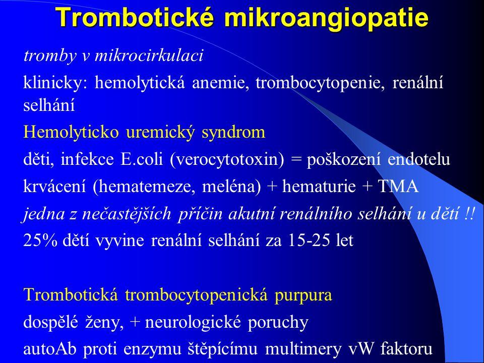 Trombotické mikroangiopatie