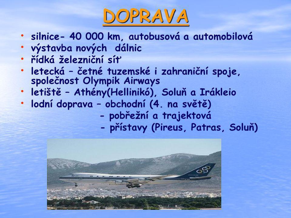 DOPRAVA silnice- 40 000 km, autobusová a automobilová