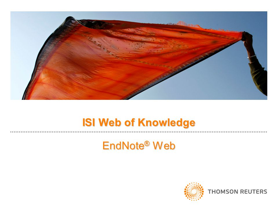 ISI Web of Knowledge EndNote® Web