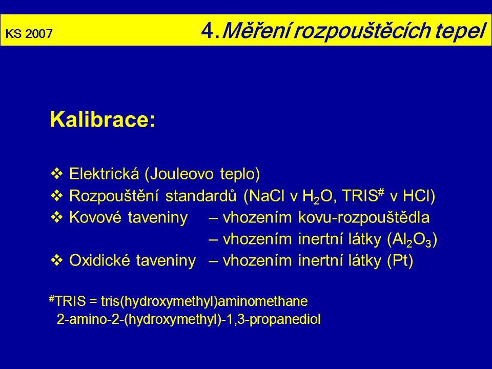 Kalibrace: Elektrická (Jouleovo teplo)