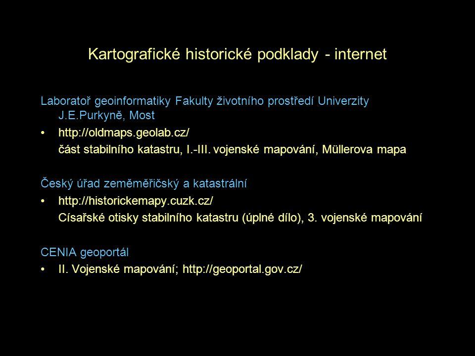 Kartografické historické podklady - internet