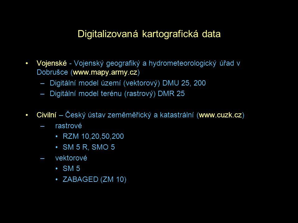 Digitalizovaná kartografická data