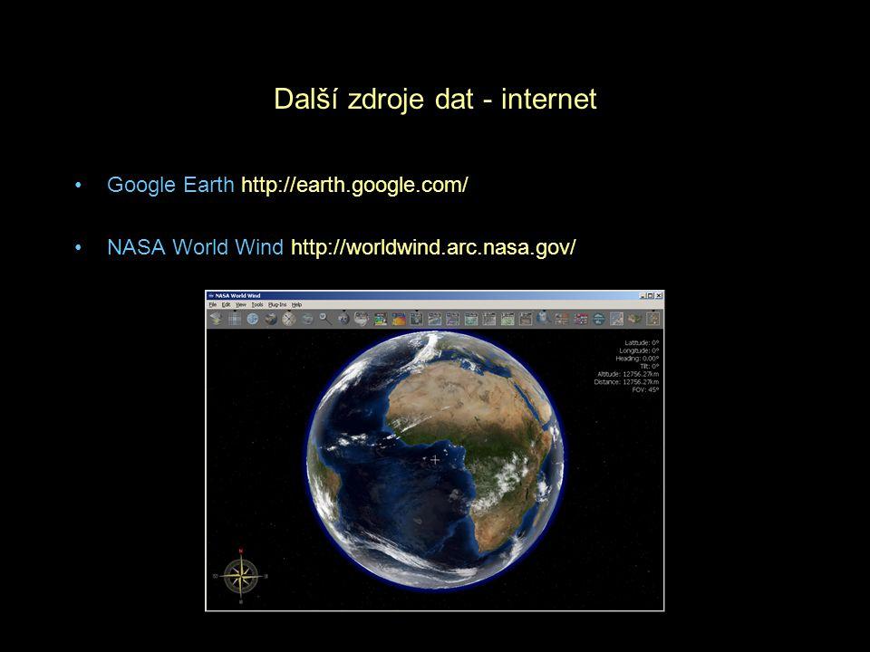 Další zdroje dat - internet
