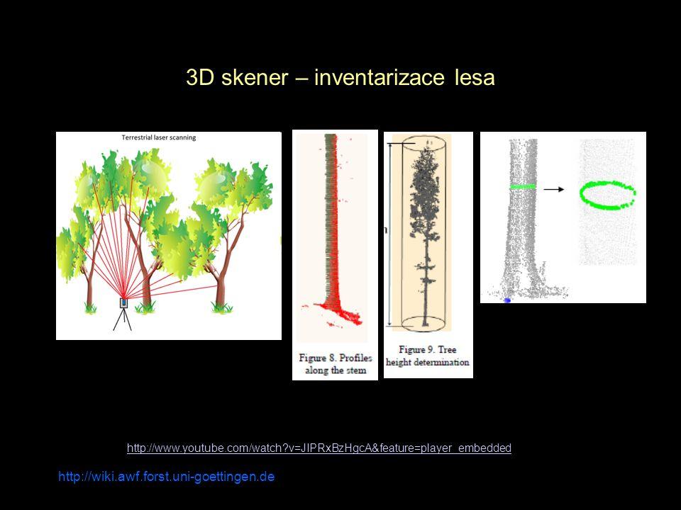 3D skener – inventarizace lesa