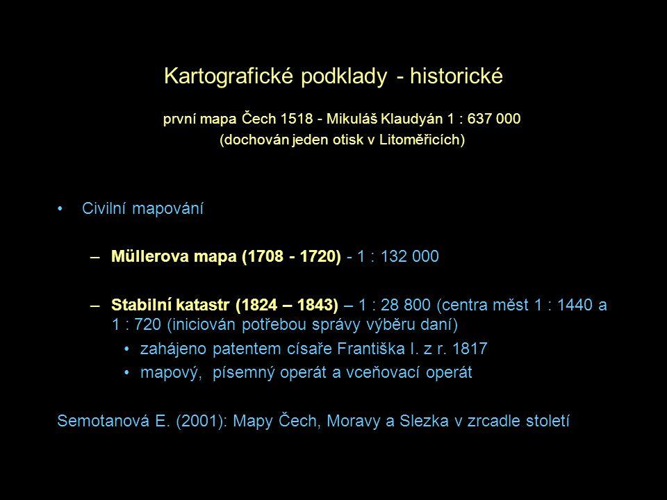 Kartografické podklady - historické