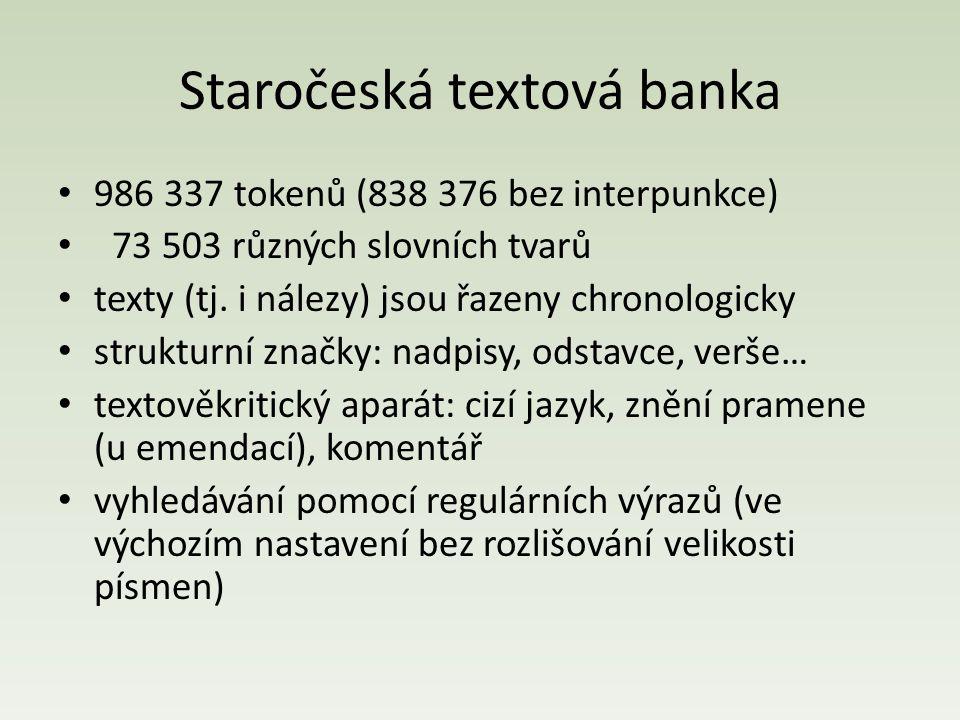 Staročeská textová banka