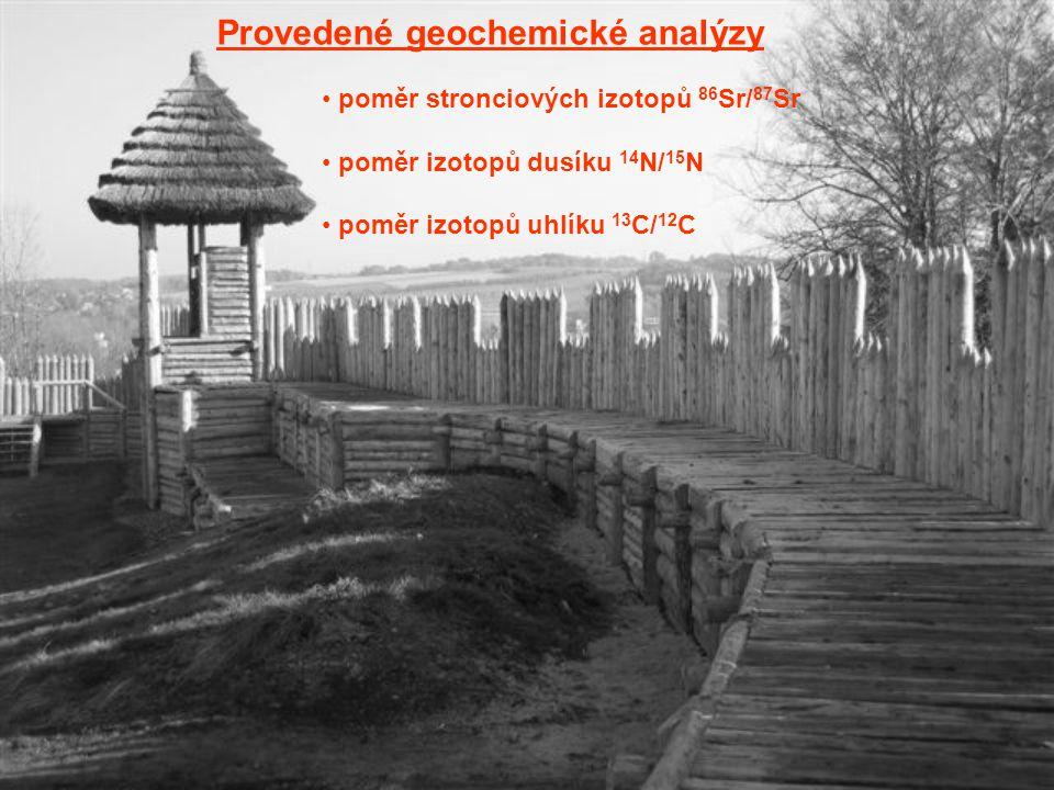 Provedené geochemické analýzy