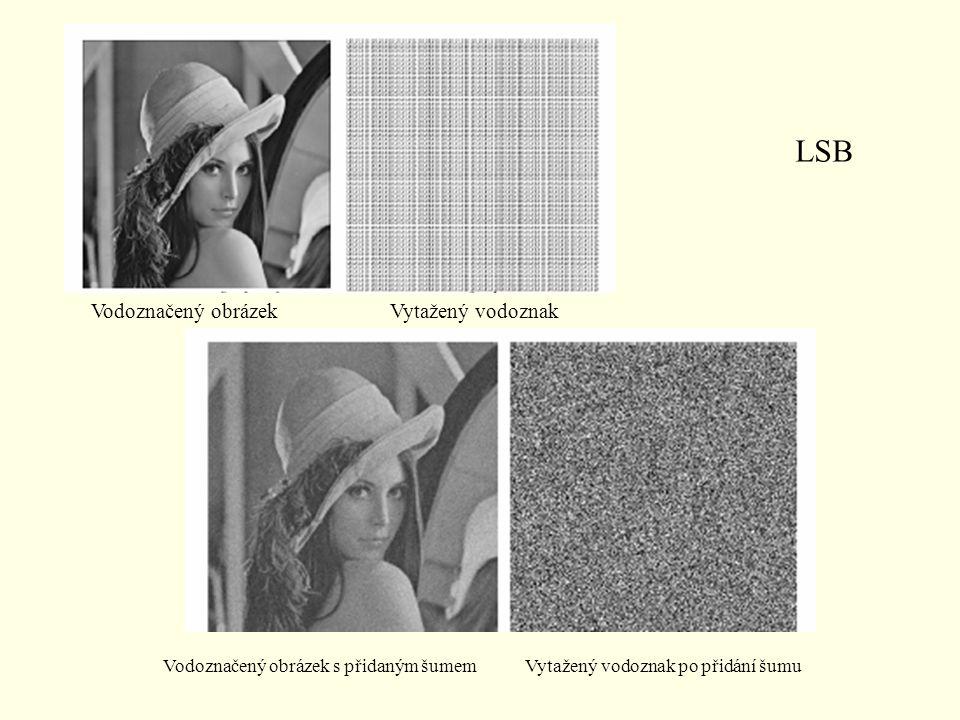 LSB Vodoznačený obrázek Vytažený vodoznak