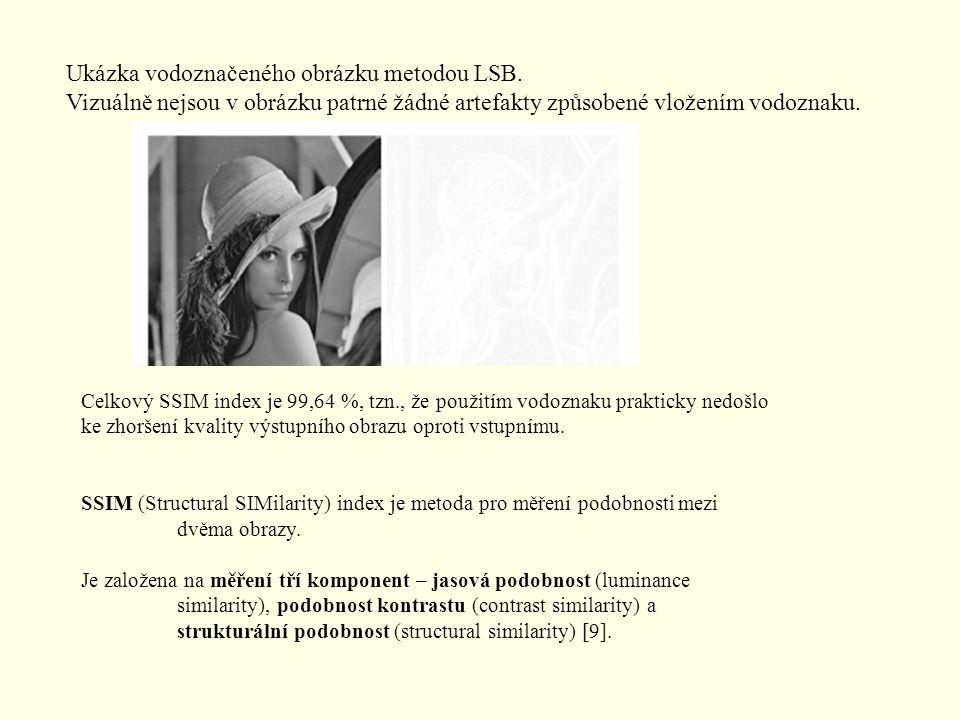 Ukázka vodoznačeného obrázku metodou LSB.