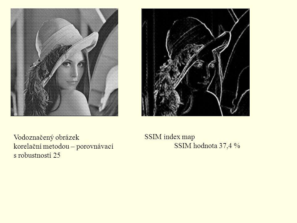 Vodoznačený obrázek korelační metodou – porovnávací.