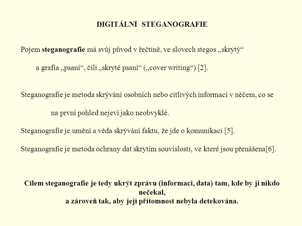 DIGITÁLNÍ STEGANOGRAFIE