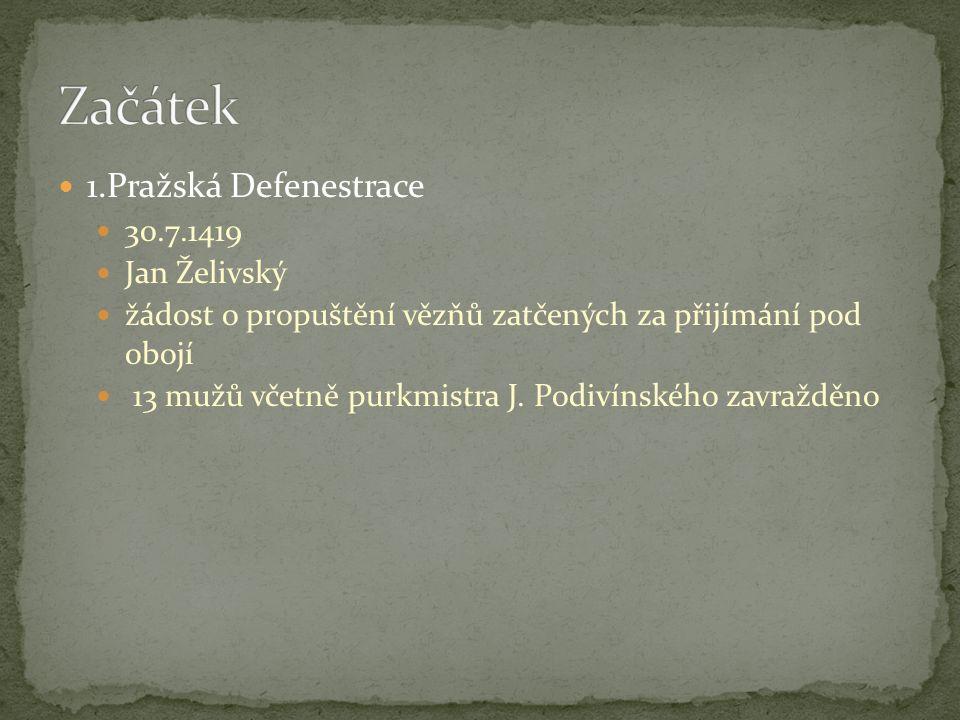 Začátek 1.Pražská Defenestrace 30.7.1419 Jan Želivský