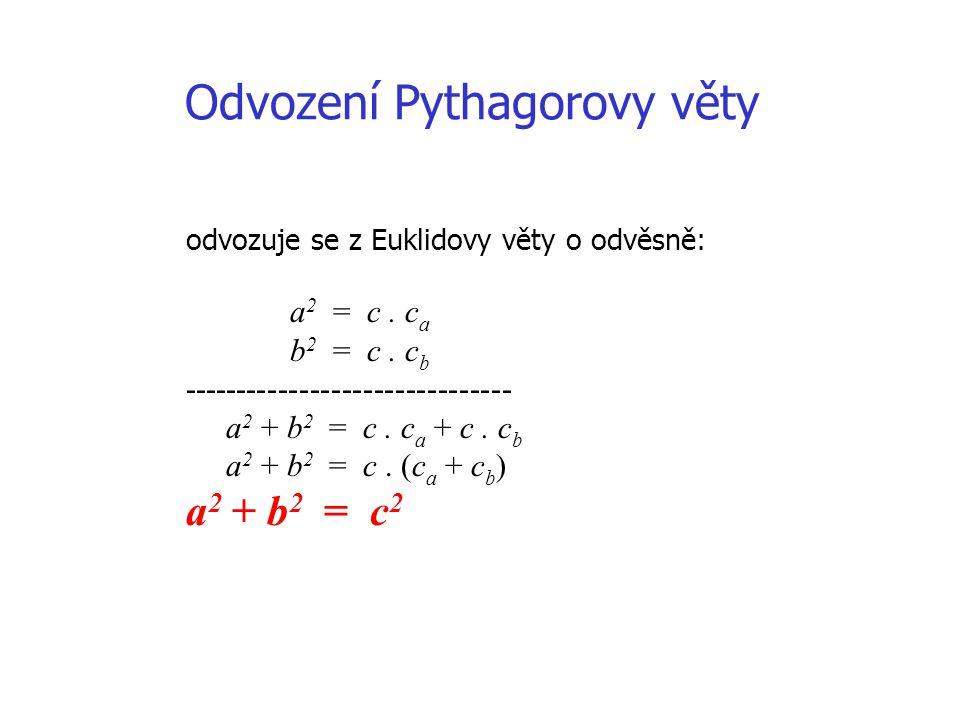 Odvození Pythagorovy věty