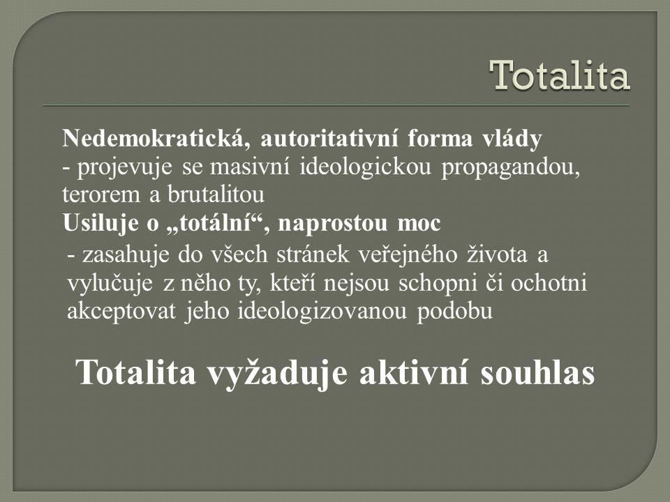 Totalita vyžaduje aktivní souhlas