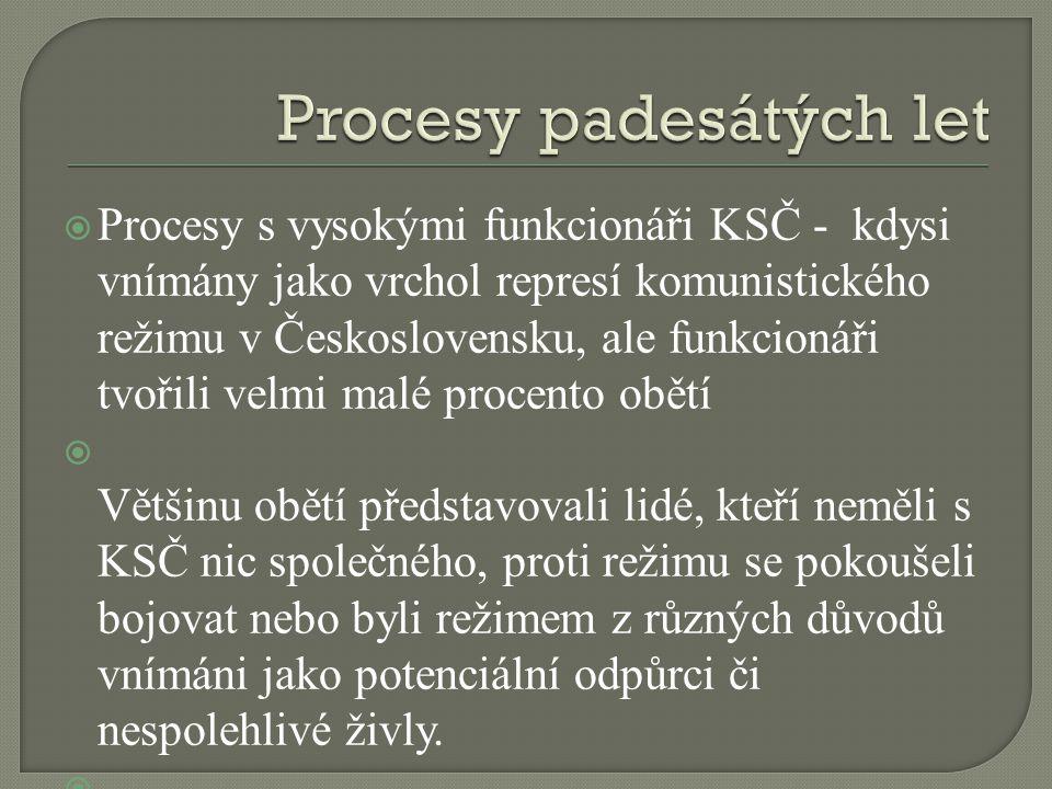 Procesy padesátých let