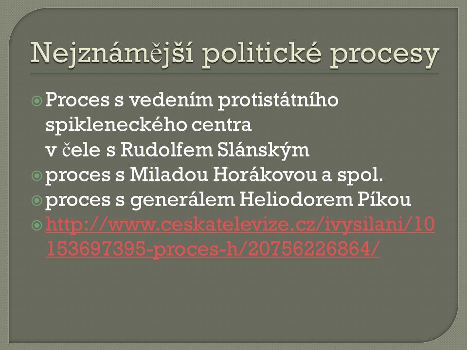 Nejznámější politické procesy