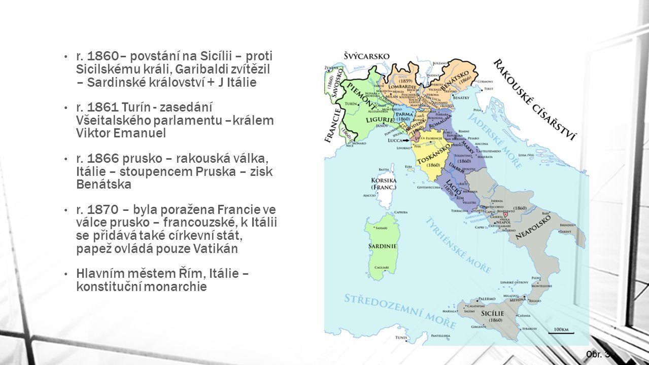 Hlavním městem Řím, Itálie – konstituční monarchie