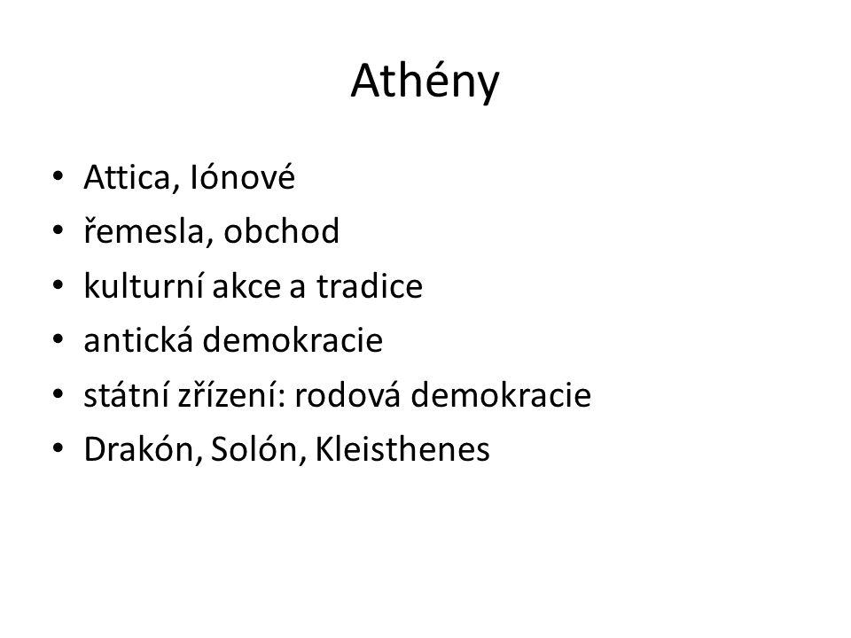 Athény Attica, Iónové řemesla, obchod kulturní akce a tradice